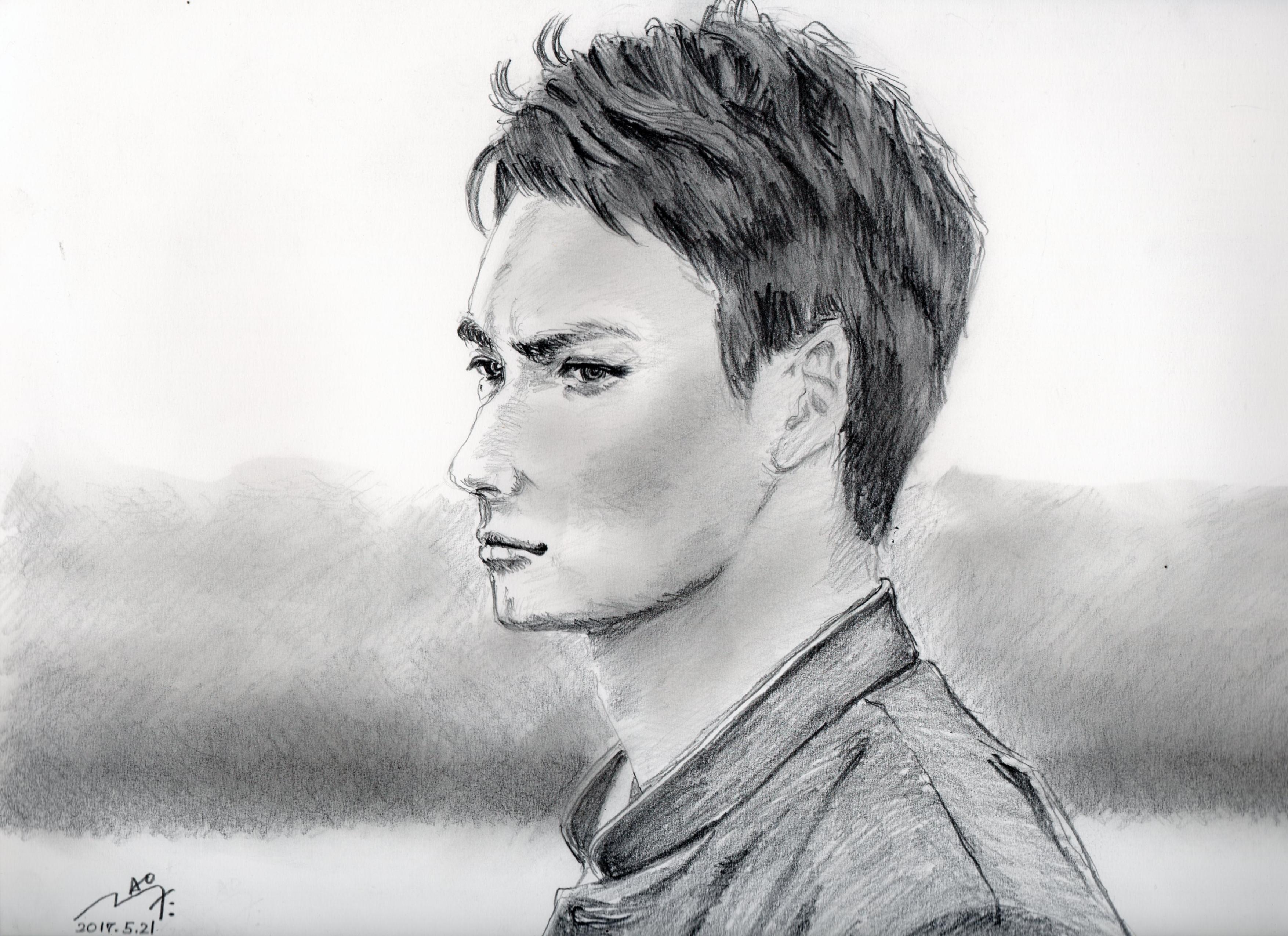 岡田将生の鉛筆画似顔絵