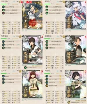 艦これ夏イベント2017 E7 Pマス掘り 第二艦隊