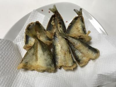 イワシとアジの天ぷら