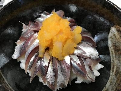 マイワシのお刺身丼