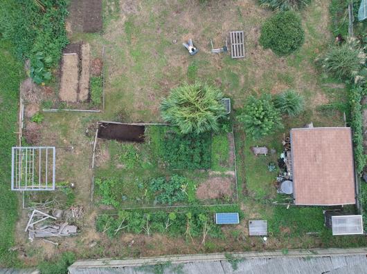 房総フィールド ブロッコリーと芽キャベツの畑開墾 上空から