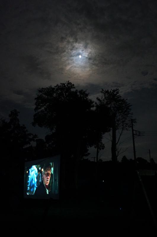 Outdoor Cinema under the Moon