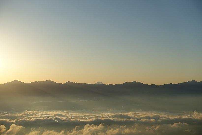3 千畳敷駅からの富士山-3 15%