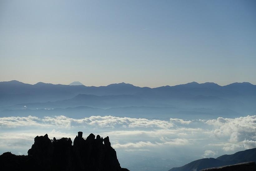7 乗越浄土からの富士山 15%