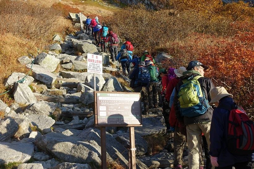 4 千畳敷カールの登山口 15%