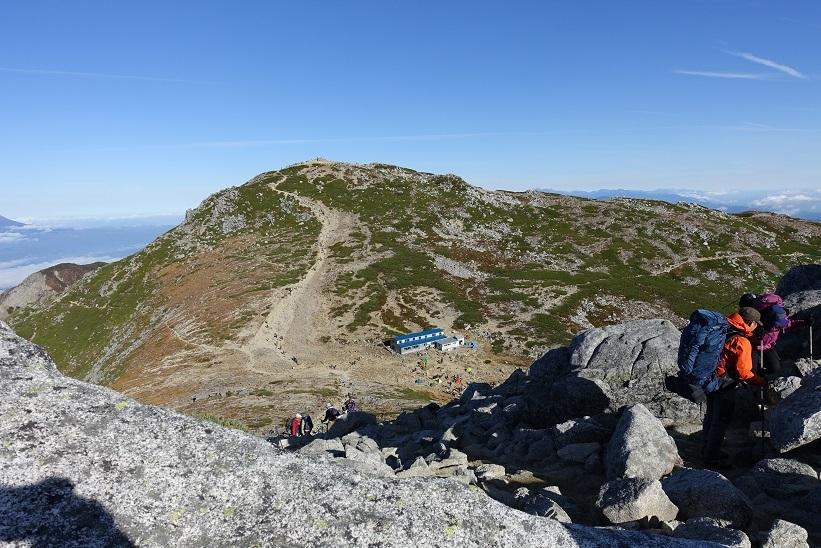 10 中岳から木曽駒ケ岳頂上 15%