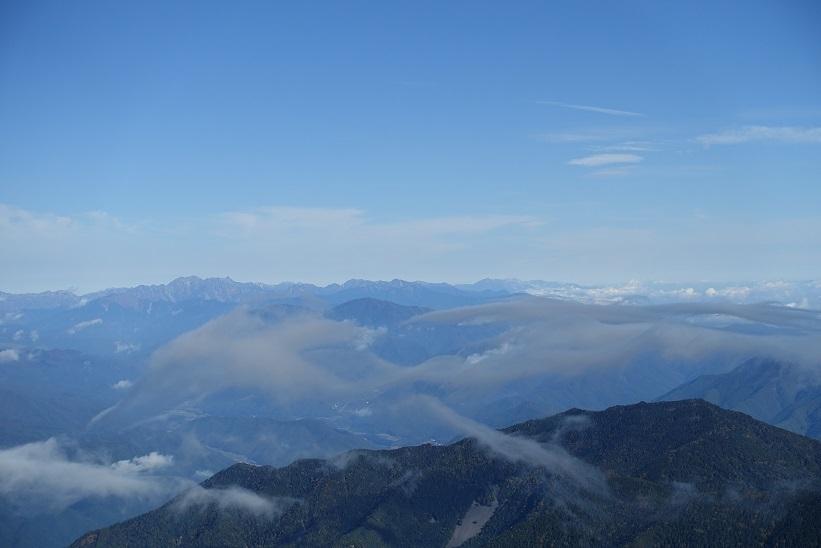 17 木曽駒頂上から北アルプス 15%
