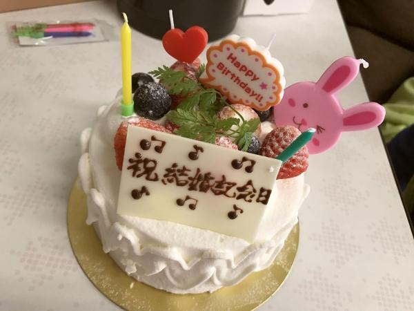ガトー・ラ・フォセット 結婚記念日ケーキ201705 (1)