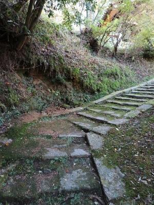 神童寺・収蔵庫への道