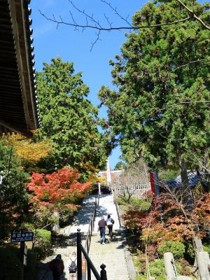 播州清水寺・根本中堂への石段