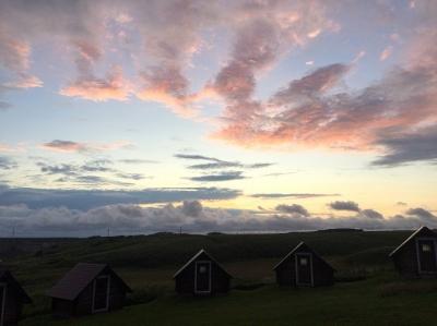 きりたっぷ岬キャンプ場の夕景