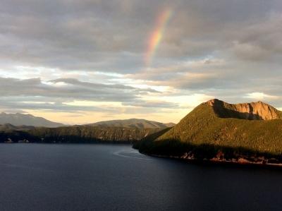 虹の摩周湖