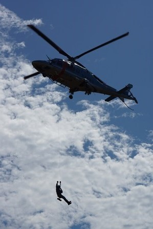 ヘリコプターが・・・