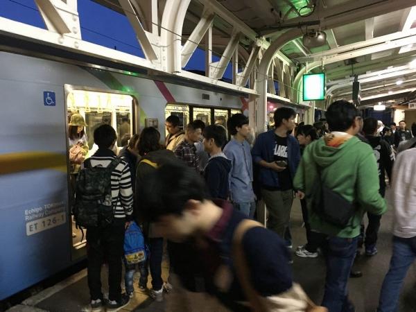 2017-10-21 電車も混雑