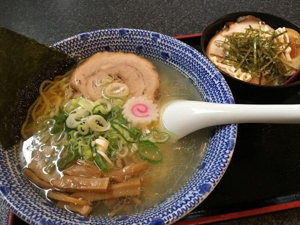 2017-09-27 塩ラーメン&チャーシュー丼