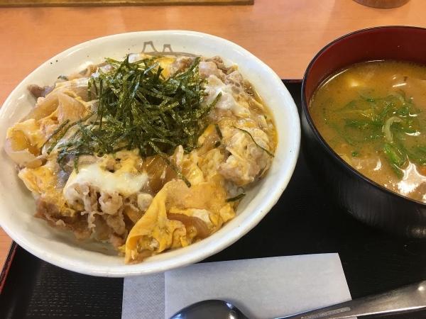 2017-11-18 とじ牛丼