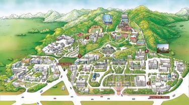 臨時の地図なんだが・・広大なキャンパスなのをお分かりいただけるかとw