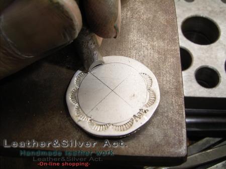 コンチョの作り方 シルバー 925