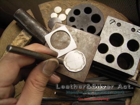 コンチョの作り方 シルバー