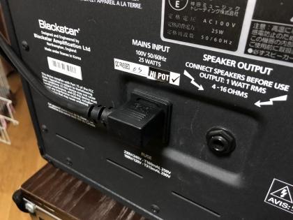 blackstar L型電源ケーブル