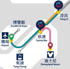 香港国際空港からディズニーランドへの電車での行き方