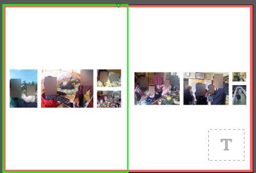 ビスタプリントのオフライン編集用ソフトで自動編集した結果
