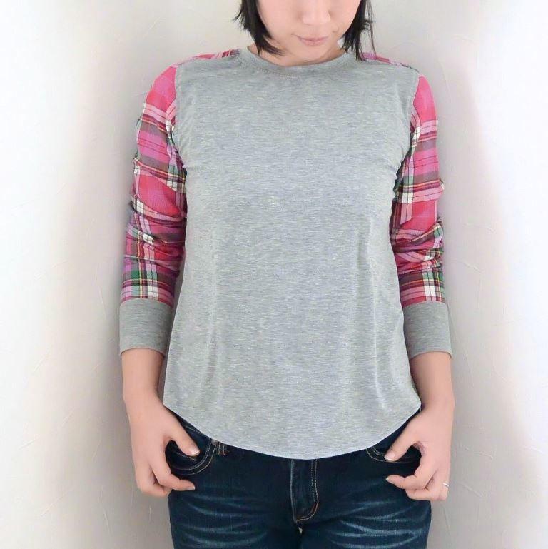 異素材シャツ3