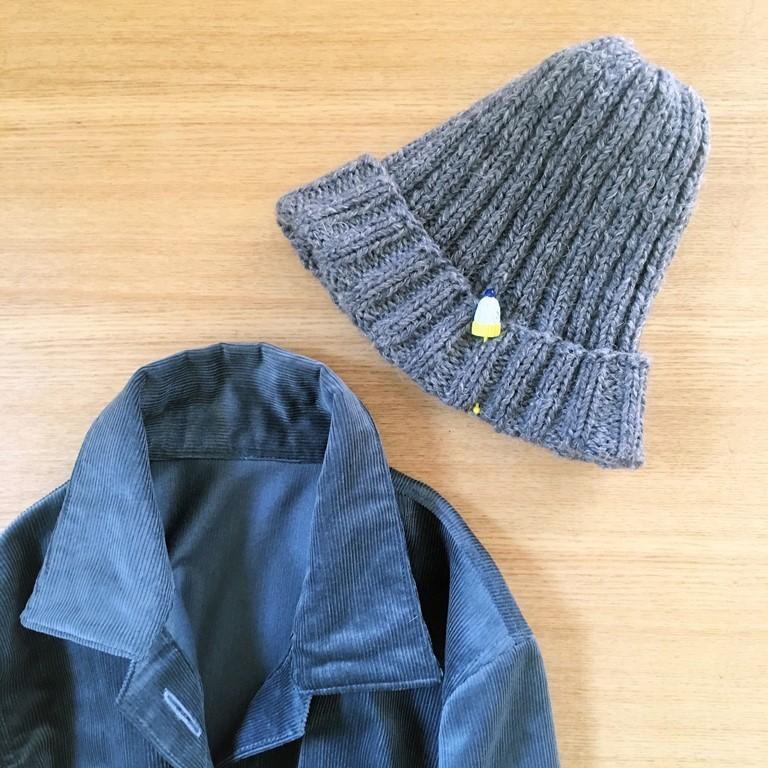 リブニット帽2