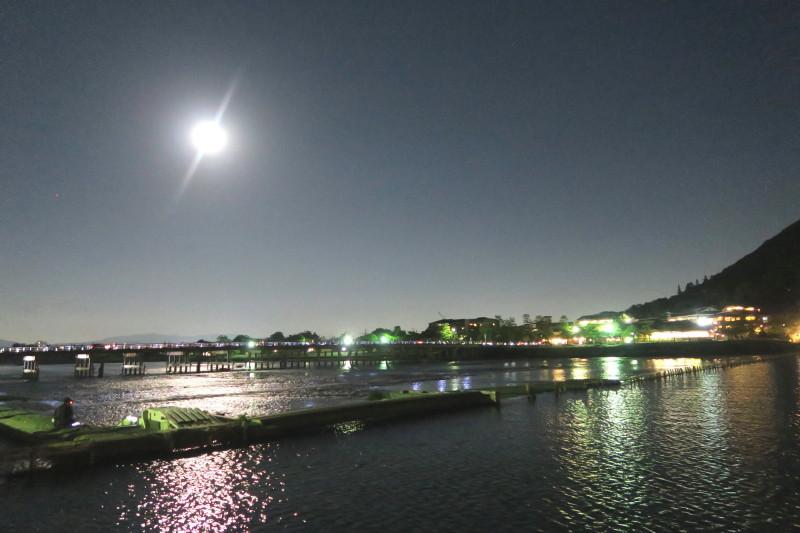 渡月橋の満月