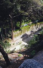 犀ヶ崖を見下ろす