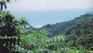 汐見坂から遠州灘