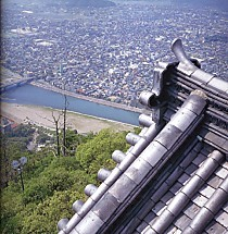岐阜城から俯瞰岐阜市内