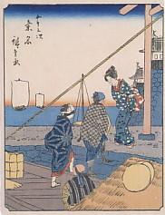 桑名人物東海道船着場鳥居