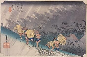 広重東海道庄野白雨