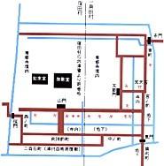 一身田寺内町地図