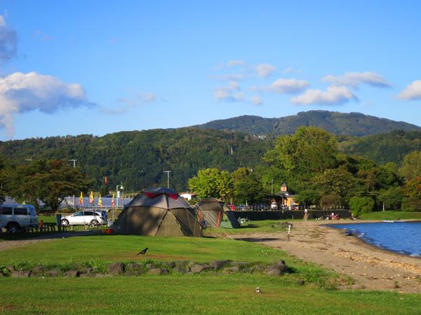 曙公園 砂浜 ドームテント