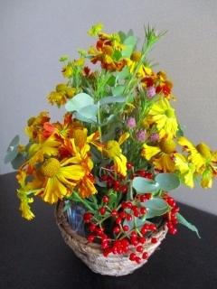 籠盛り花1