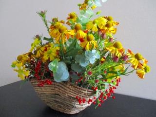 籠盛り花4