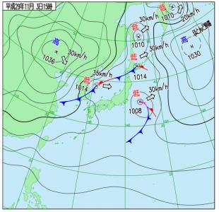 11月3日(金祝)15時の実況天気図