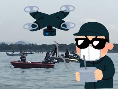 琵琶湖でドローン