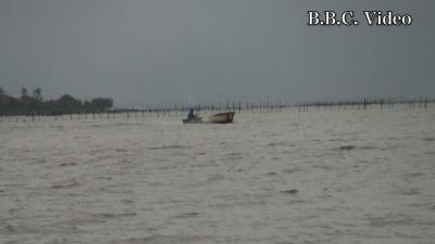 台風21号通過直後の琵琶湖(YouTubeムービー)