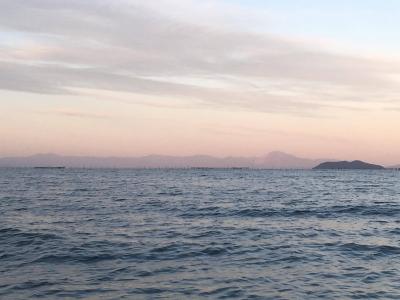 穏やかな琵琶湖北湖(11月12日16時頃)