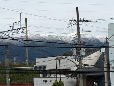雪が解けない比良山(11月20日10時頃)