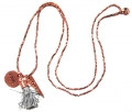 W38 Long charm tassel necklace rose (1)