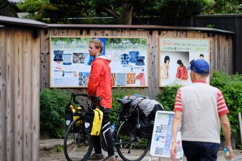 01北鎌倉外国人自転車旅行者