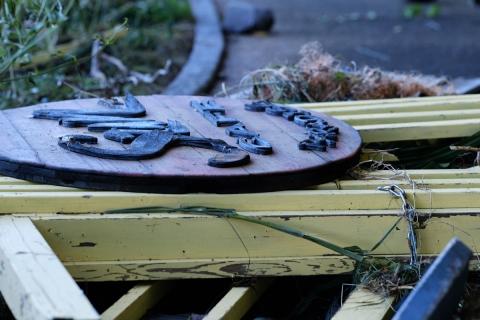 06江の島・公園台風被害の看板