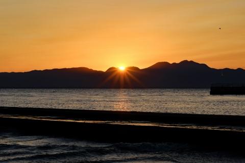 20江の島・東浜日没