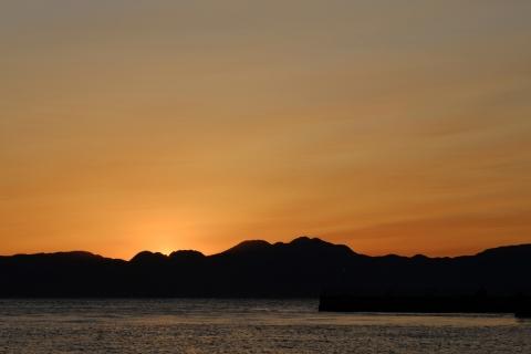 21江の島・東浜日没