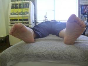 施療前 左足関節回外動作
