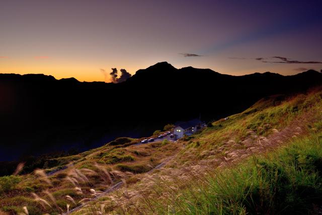 山荘の夜明け(1)